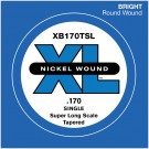 D'Addario XB170TSL Nickel Wound Bass Guitar Single String Super Long Scale .170 Tapered
