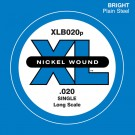 D'Addario XLB020P Plain Steel Bass Guitar Single String Long Scale .020