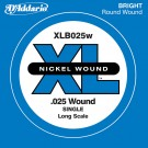 D'Addario XLB025W Nickel Wound Bass Guitar Single String Long Scale .025