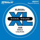 D'Addario XLB028W Nickel Wound Bass Guitar Single String Long Scale .028