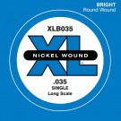 D'Addario XLB035 Nickel Wound Bass Guitar Single String Long Scale .035
