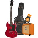 Epiphone SG Special VE CHV Electric Guitar Pack with Orange Crush 12 Amplifier, Armour Gig Bag and Lead