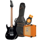Ibanez RX22EXLBKN Electric Guitar Pack with Orange Crush 12 Amplifier, Armour Gig Bag and Lead