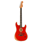 Fender American Acoustasonic Stratocaster Acoustic Electric Guitar in Dakota Red