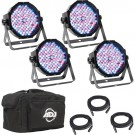 Mega Flat Pak Plus 4x Mega Par Lights