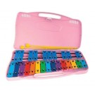 Angel AX25KP Glockenspiel 25 Coloured Notes in Pink Case