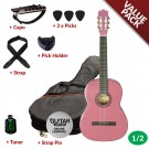 Ashton CG12 1/2 Size Nylon String Guitar Pack Pink