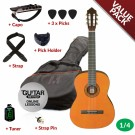 Ashton CG14 1/4 Size Nylon String Guitar Pack Natural Amber