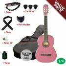 Ashton CG14 1/4 Size Nylon String Guitar Pack Pink