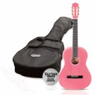 Ashton CG34 3/4 Nylon String Guitar Pack  Pink