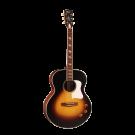 Cort CJ Retro Jumbo Electric Acoustic Guitar in Matte Vintage Sunburst