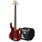 Cort Action PJ Bass Guitar Pack in Black Cherry with GE15B Bass Amp