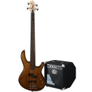 Cort Action PJ Bass Guitar Pack in Walnut with GE15B Bass Amp