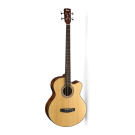 Cort SJB5F Acoustic / Electric Bass Guitar in Gig Bag