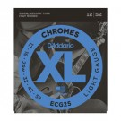 D'Addario ECG25 Chromes Flat Wound - Light 12-52 Electric Guitar Strings