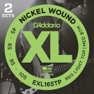 D'Addario EXL165TP Twin Pack 45-105 Bass Strings