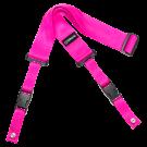 DiMarzio DD2200 2 Inch Nylon Cliplock Strap in Neon Pink