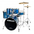 DXP TX06PMBL Fusion 20″ Series Drum Kit Package in Midnight Blue