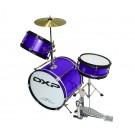DXP 3pce Junior Drum Kit 3 in Metallic Purple