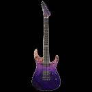 ESP E-II M-II 7NT 7 String Electric Guitar in Purple Natural Fade