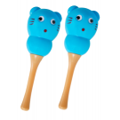 CPK Maracas Plastic Bear in Blue ( Pair)