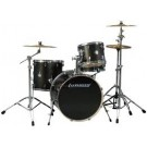 Ludwig Element ICON Complete 4 piece Drum Set with Cymbals in Black Sparkle