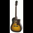 Epiphone AJ-210CE Acoustic Electric Guitar in Vintage Sunburst