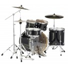 "Pearl Export 22"" Fusion Plus Drum Kit with P-830 Hardware Pack in Black Smoke Lacquer Finish"