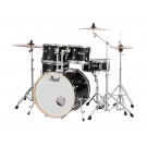"Pearl Export Plus 22"" Fusion Plus 5pce Drum Kit Package in Jet Black"