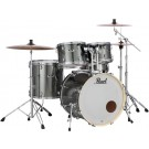 "Pearl Export Plus 22"" Rock size 5pce Drum Kit Package in Smokey Chrome"
