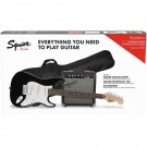 Squier Stratocaster Electric Guitar Pack w/ Frontman 10G Amp - Black Strat Pack