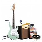 Cort G110 Electric Guitar Pack with CM15R Amp - Carribean Green