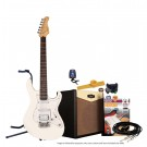 Cort G110 Electric Guitar Pack with CM15R Amp - Vintage White