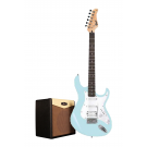 Cort G110 Electric Guitar Pack with CM15R Amp - Sonic Blue + Free Lead and Picks!