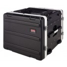 Gator GR-8L 8U Rack Case Moulded PE Front and Real Rails