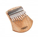 Gecko 17 Note Kalimba with Solid Camphor wood Body