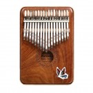 Gecko 17 Note Kalimba with Hollow Resonant Maple Body with Case.