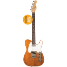 Michael Kelly - 1950s T Style - Electric Guitar Enlightened 50  Amber (Light Weight)