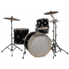 Ludwig Element ICON 4 piece Drum Set Package with Cymbals in Black Sparkle