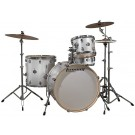 Ludwig Element ICON Complete 4 piece Drum Set Package with Cymbals in White Sparkle