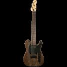 Michael Kelly - MK508 - 8 String T Style Electric Guitar - Black Burl
