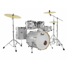"Pearl Export Plus 22"" Rock size 5pce Drum Kit Package in Arctic Sparkle"