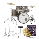 "Pearl Drums Roadshow-X 20"" Fusion Drum Kit Package in Bronze Metallic"