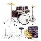 "Pearl Drums Roadshow X 20"" Fusion Drum Kit Package in Red Wine"