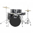 "Pearl Roadshow 5pc 20"" Fusion Drum Kit Package in Jet Black"