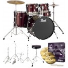"Pearl Roadshow-X 22"" Fusion Plus Drum Kit Package in Red Wine"