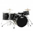 "Pearl Roadshow 5pc 22"" Rock Drum Kit Package in Jet Black"