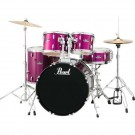 """Pearl  Roadshow 5pc 20"""" Fusion Drum Kit Package in Pink Metallic with Cymbals, Hardware, Throne, Sticks"""