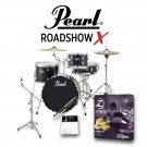 "Pearl Roadshow-X 18"" 4 Piece Drum Kit Package in Jet Black"