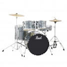 """Pearl  Roadshow 5pc 22"""" Fusion Plus Drum Kit Package in Charcoal Metallic with Cymbals, Hardware, Throne, Sticks"""
